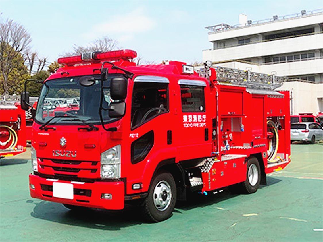 いすゞ、消防車の放水時CO2排出削減 電動モーター駆動の「スマートポンプ」開発