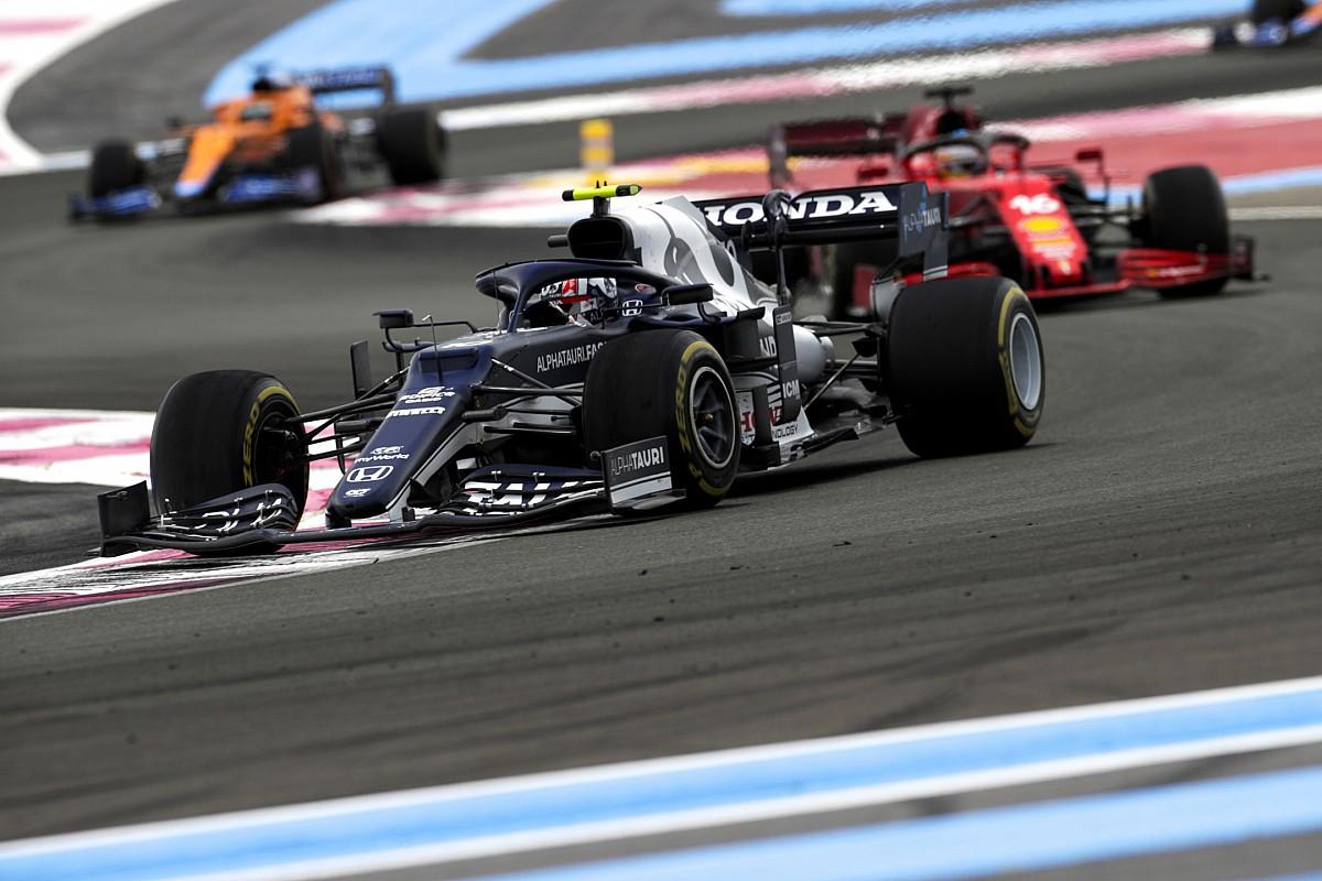 """ピエール・ガスリー、フランスGPでのノリスとの""""あわや接触""""のバトルは「限界ギリギリ……でも良いバトルだったと思う」"""