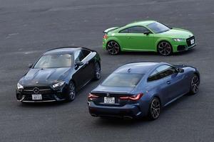 【比較試乗】「メルセデス・ベンツ Eクラスクーペ vs BMW 4シリーズクーペ vs アウディ TT RSクーペ」同じジャーマン・プレミアムでも異なるベクトル。最新クーペ、それぞれの流儀