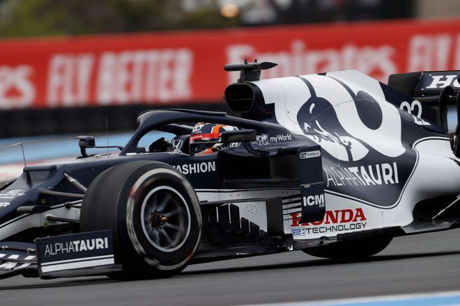 【角田裕毅F1第7戦密着】クラッシュの影響により旧型フロアを使用も、13位完走で経験を積んだフランスGP