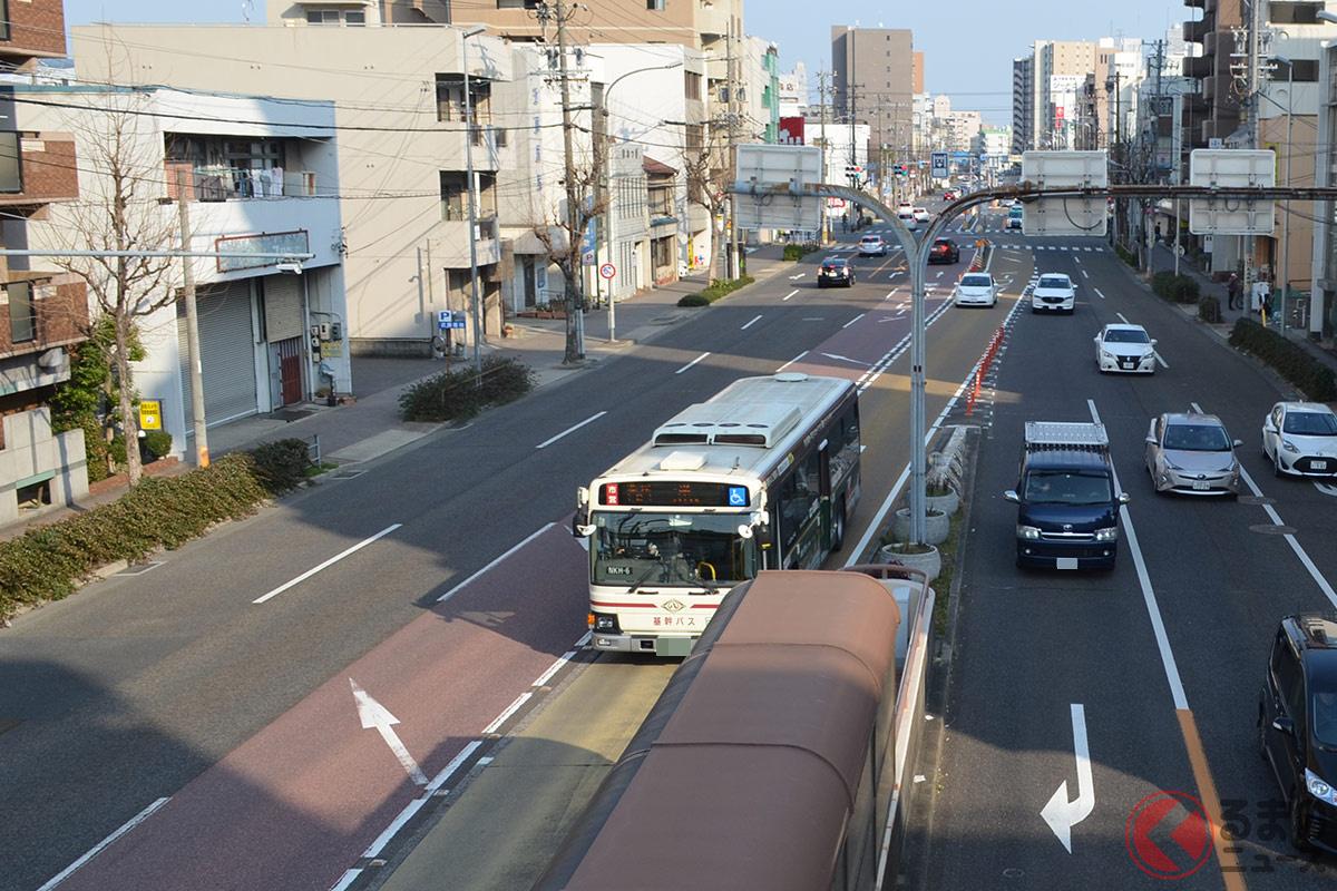 なぜ名古屋だけに「基幹バスレーン」存在? 他県ユーザー困惑の道路事情とは