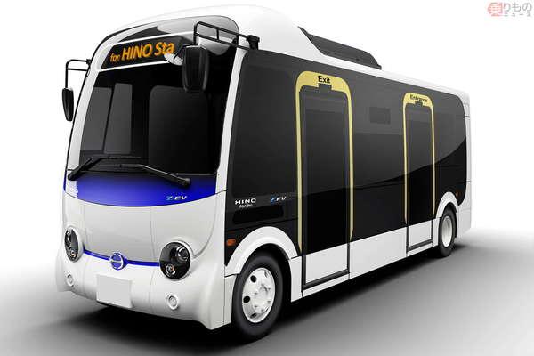 小型バス「ポンチョ」にEV版が登場「日野ポンチョ Z EV」コミュバスに十分な航続距離
