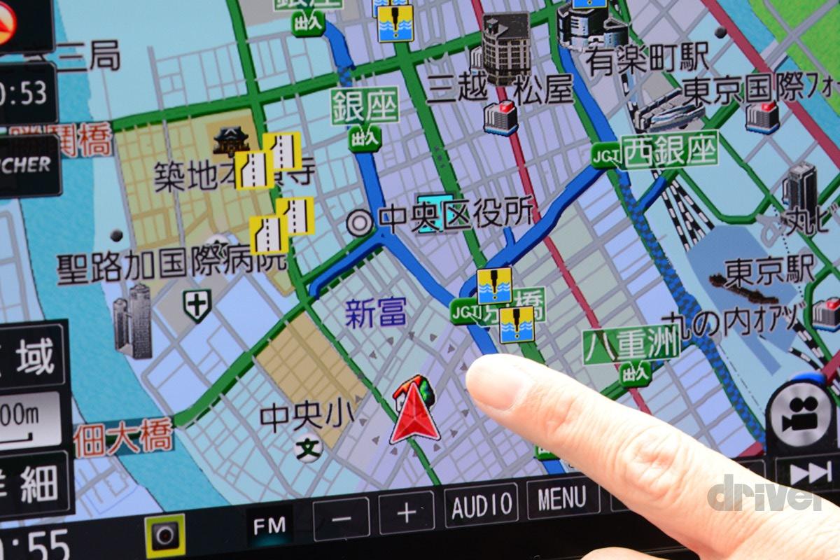 パナソニック最新カーナビ「ストラーダ F1Xプレミアム10 CN-F1X10BLD」を使ってみたら…… アイコンの意味を理解すればドライブもスムーズ!編 