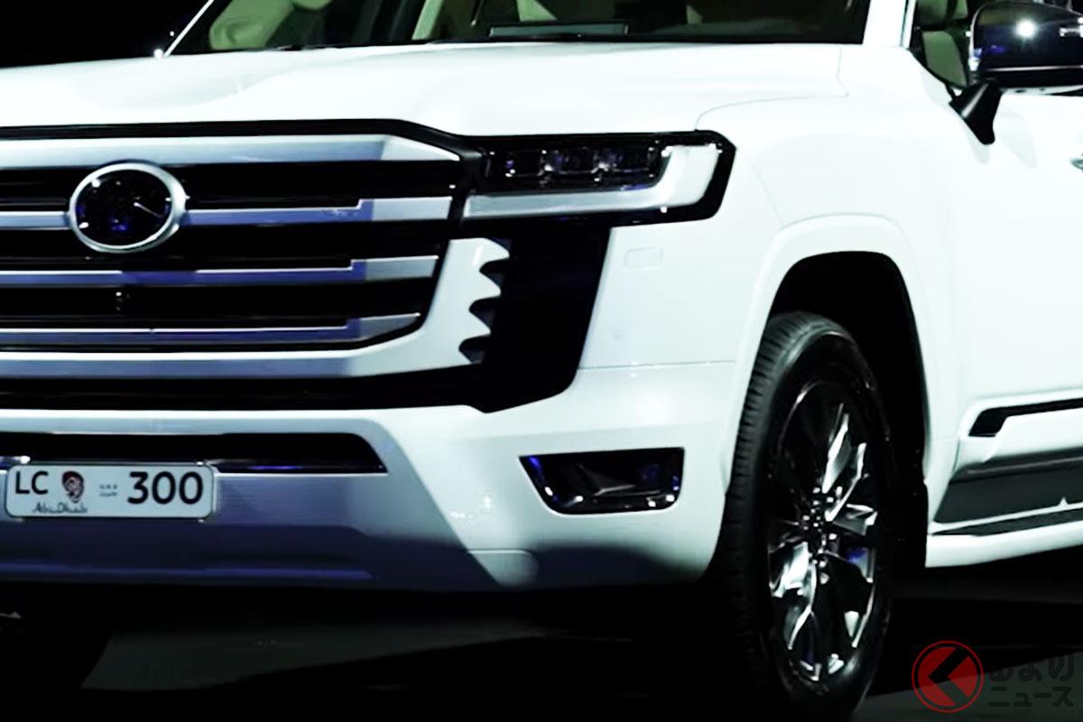 トヨタ新型「ランクル300」はVIP感溢れるギラ顔自慢な4WD!? UAEイベントで現地顧客に向け披露