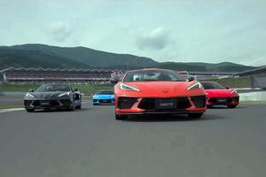 GM 右ハンドルの新型「シボレー コルベット」が富士スピードウェイを走った