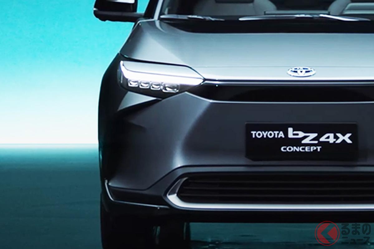斬新さが好評? トヨタ新型SUV「bZ4X」の外観に反響続出!? 好き嫌い真っ二つに分かれた部分は