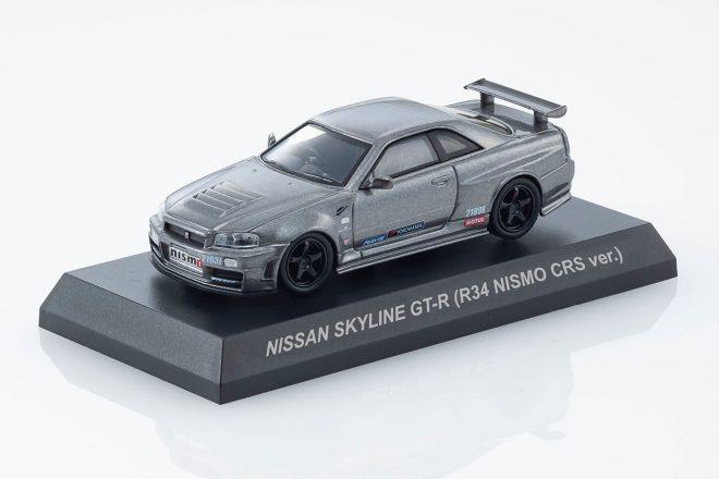 京商ミニカー&ブックス第5弾『ニッサン・スカイラインGT-R R34ニスモCRS ver.』6月1日発売