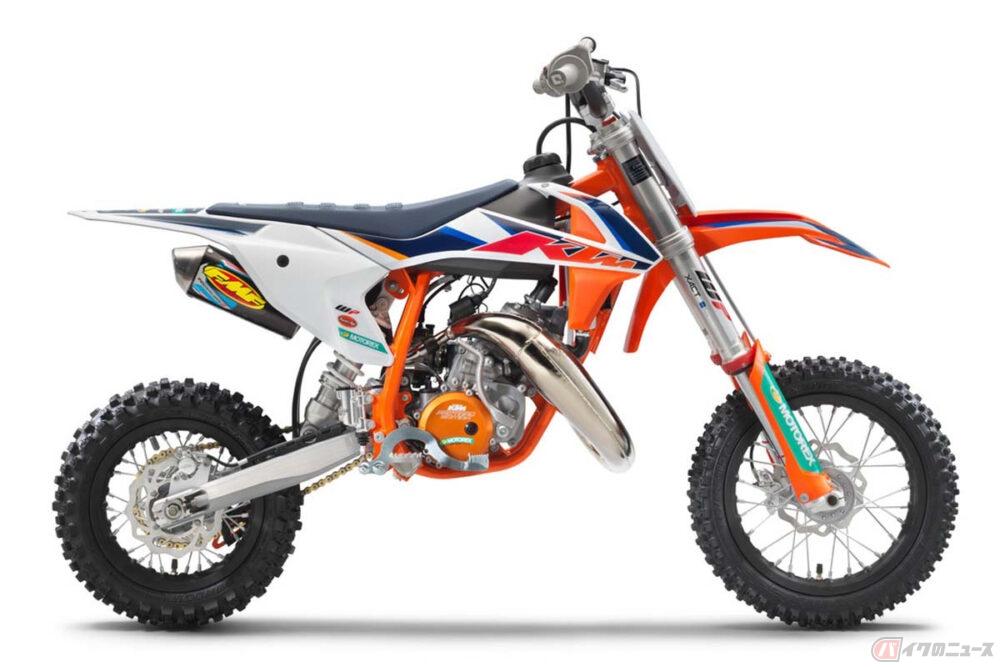 KTMジャパンが2022年型としてジュニア向けの特別なモトクロスマシン「50 SX FACTORY EDITION」を発表