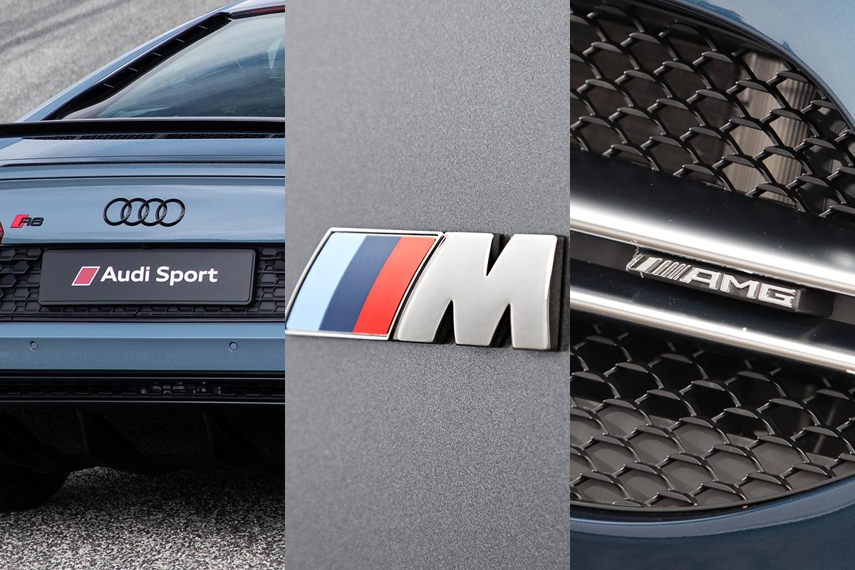 「AMG」「BMW M」「Audi Sport」の巧み過ぎるブランド戦略! 松竹梅の「竹」グレードの魅力とは?