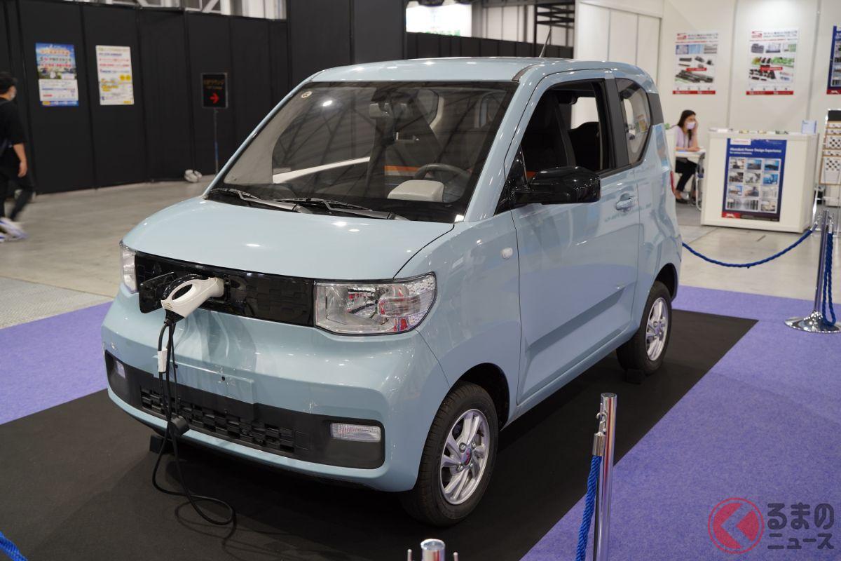 約45万円の新型車が日本初公開! 安すぎる小型EV「宏光 MINI」 なぜ日本のイベントに展示された?