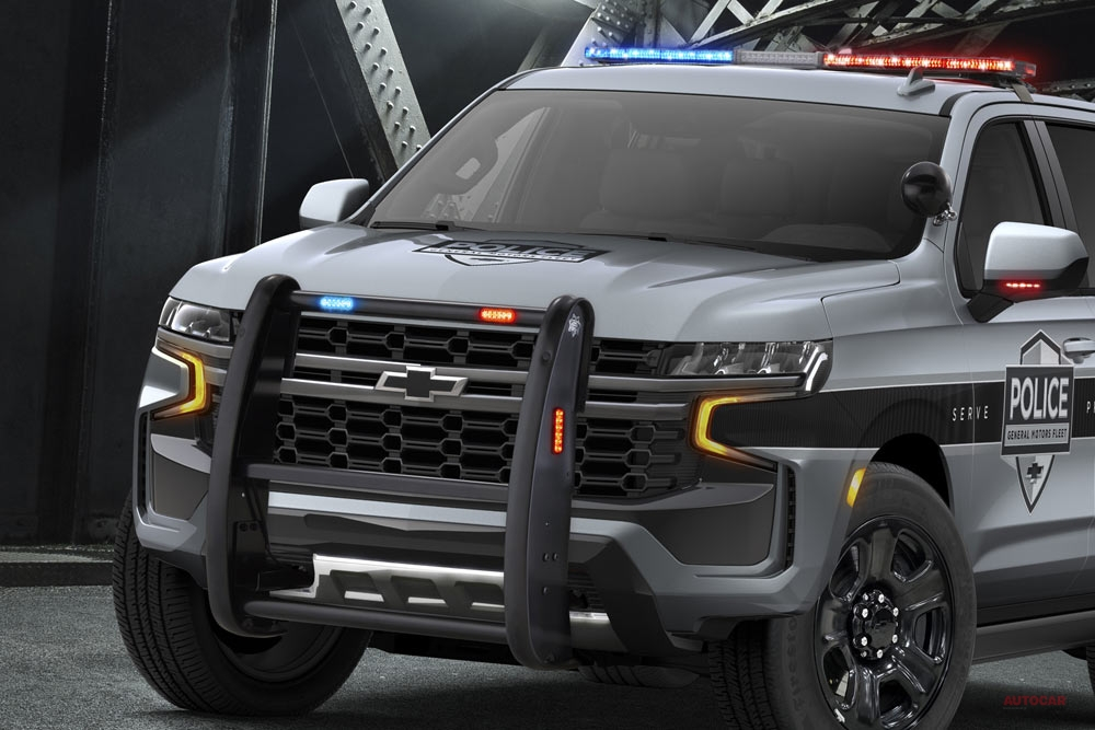 【カマロZL1譲りで強化】警察車両シボレー・タホ、新型にフルモデルチェンジ 北米で活躍へ
