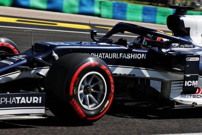 【角田裕毅F1第11戦密着】僚友との間に生じた1秒の差に困惑。コースインのタイミング、路面状況も一因か