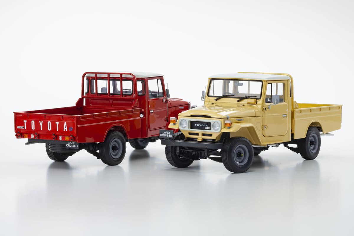 稀少なピックアップトラックがモデル化! トヨタ・ランドクルーザー40が1/18スケールになって登場【京商】
