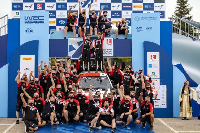 豊田章男オーナー、チームを支える皆に感謝「カッレ車からいち早く不具合を見つけ出してくれた」/WRC