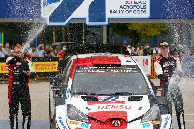 ロバンペラとオジエが1-3フィニッシュ。トヨタ、今季5度目のダブル表彰台/WRC第9戦ギリシャ