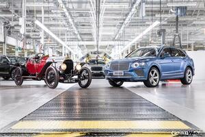 ベントレー、1919年から現在までの総生産台数が20万台に到達。メモリアル車はベンテイガ ハイブリッドに