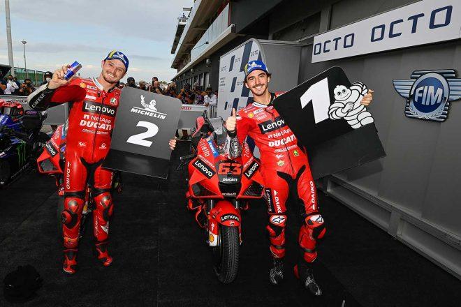 2戦連続ポール獲得のバニャイア「ドライでもウエットでもいい走りができている」とレースに自信/MotoGP第14戦予選トップ3コメント