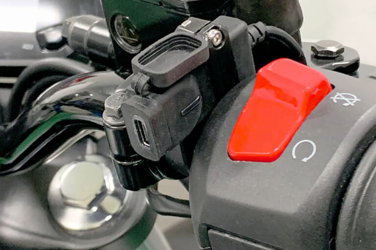 ハンドルバーにコンパクト装着! 急速充電に対応したUSB-C電源ポート〈キジマ〉