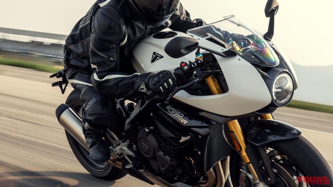 トライアンフ新型「スピードトリプル1200RR」登場! 3気筒のジャジャ馬がネオクラレーサーに