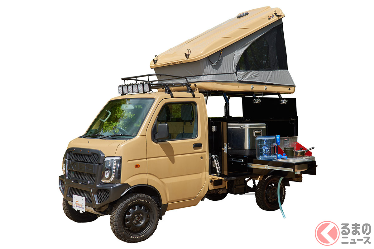 「軽トラキャンプ」なぜ人気? 車中泊から荷台泊にニーズ移る? コロナ禍で需要増の訳