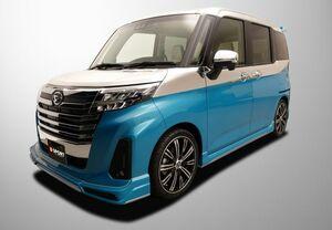 D-SPORT 「ダイハツ・トール・カスタム・マイナーチェンジ車」用エアロパーツ発売。トヨタ・ルーミー・カスタム、スバル・ジャスティにも装着可