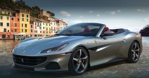 最高出力7500rpm、最大トルク760Nm!3855cc、V8ターボエンジンを搭載したフェラーリの2シーターカブリオレ「Portofino M」