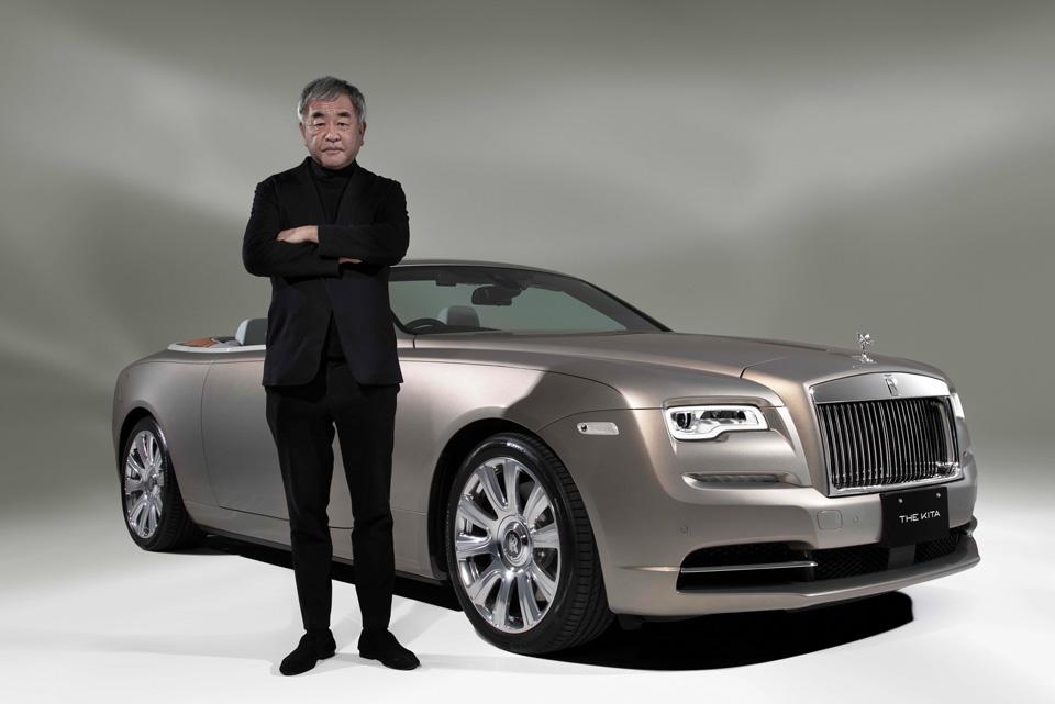 建築家の隈研吾氏が手がけたロールス・ロイスの高級住宅専用オープンカー「ドーン」
