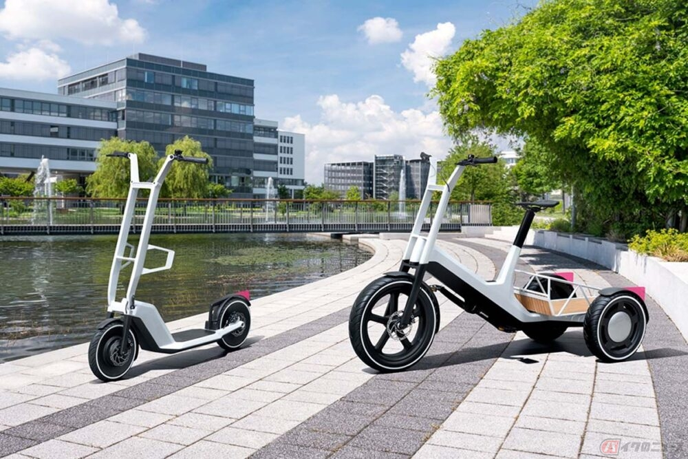 BMW「Concept DYNAMIC CARGO」「Concept CLEVER COMMUTE」公開 未来を見据えた電動モビリティのコンセプトモデル
