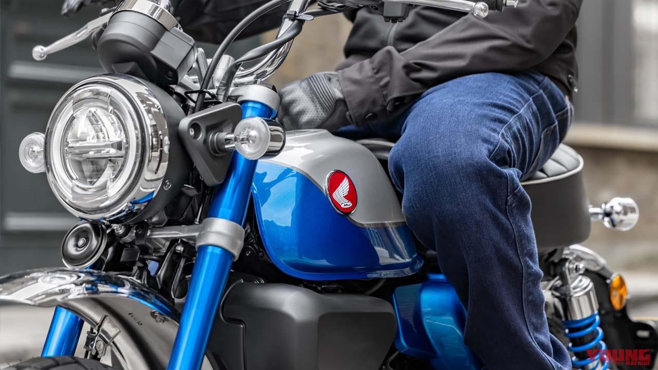 鮮烈なブルーのホンダ新型「モンキー125」登場! タイ仕様の赤、黄に追加【欧州】