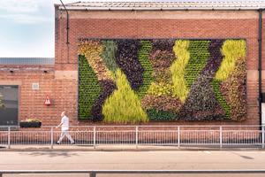 ベントレー モーターズのクルー本社工場に植物の壁「リビングウォール」が誕生