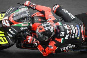 MotoGP第14戦サンマリノGP:アプリリアで2戦目を迎えたビニャーレスが総合トップで初日を終える
