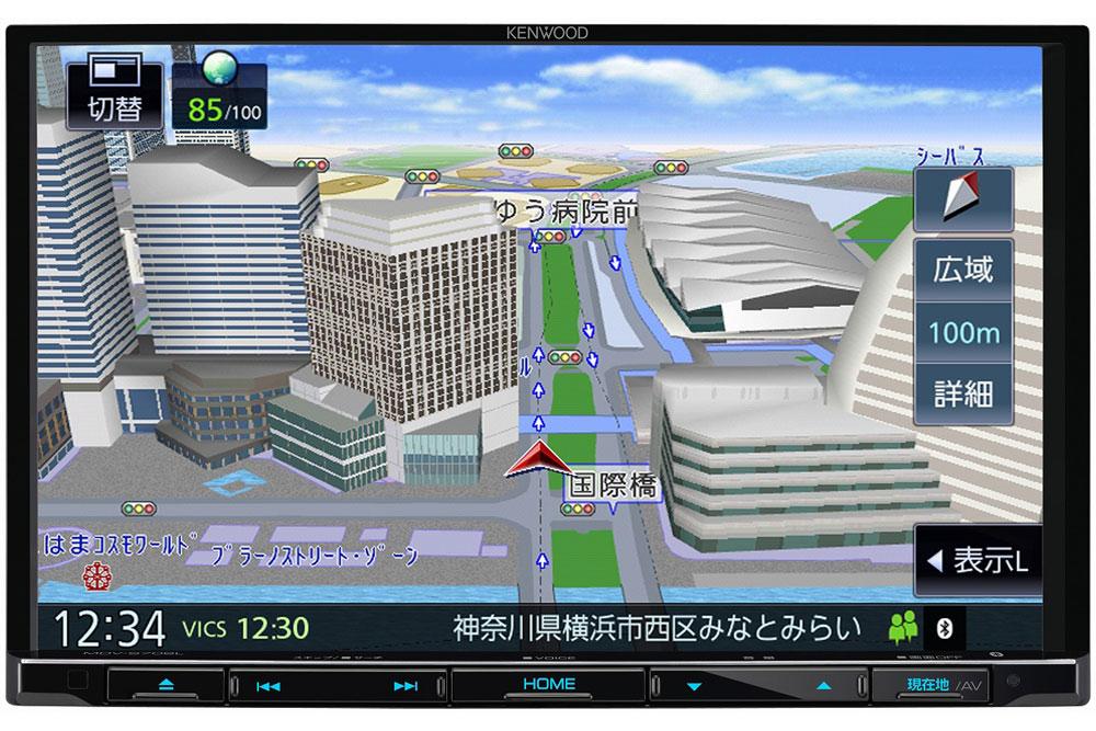 【中核モデル、新型に】彩速ナビ・タイプS 「3D地図」が5つの角度で ケンウッドの2021年最新型