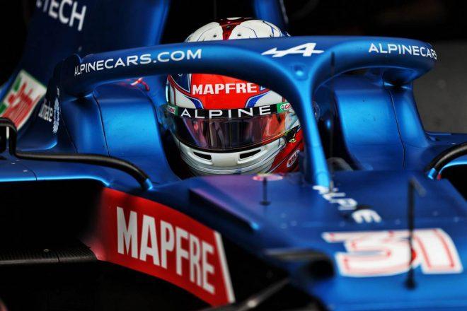 アルピーヌF1、イギリスGPでオコンに新シャシーを供給「苦戦の背景に技術的理由があるかどうか調査中」