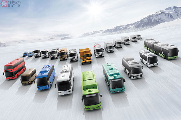 日野と中国BYD 中国国内に商用EVの新会社設立 日野ブランド車を市場投入へ