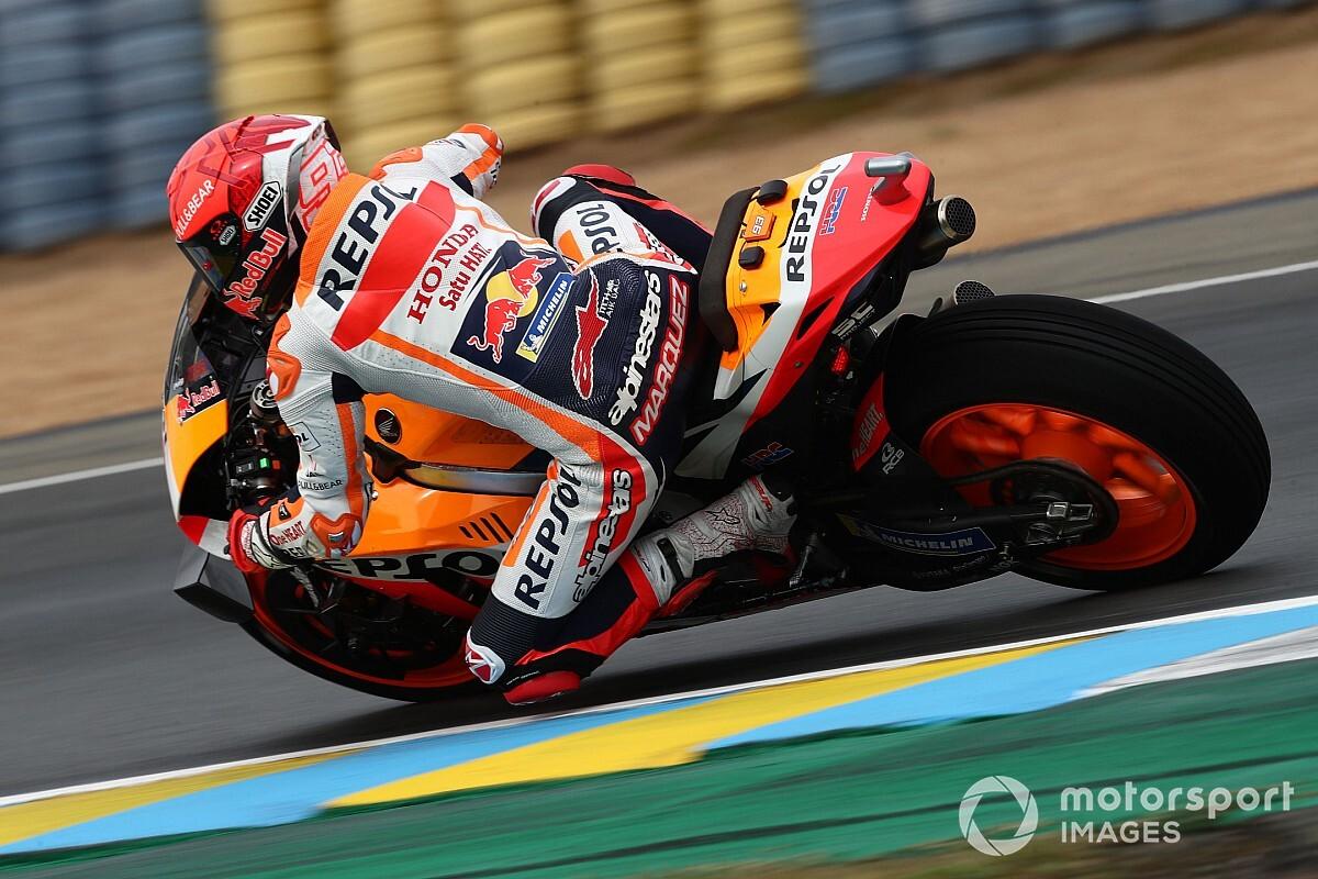 【MotoGP】マルク・マルケス、フランスGP2列目スタートは「最高の結果」同僚エスパルガロは転倒に悔しさ爆発