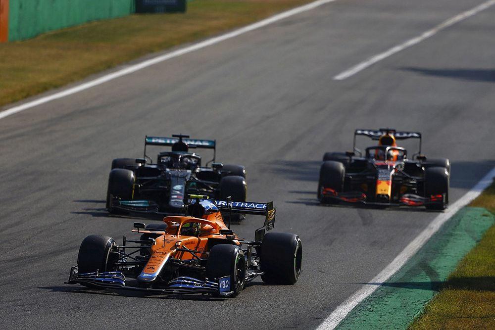 """イタリアGP2位のランド・ノリス、僚友リカルドへの""""アタック控え""""にフェルスタッペン&ハミルトン事故の影響"""
