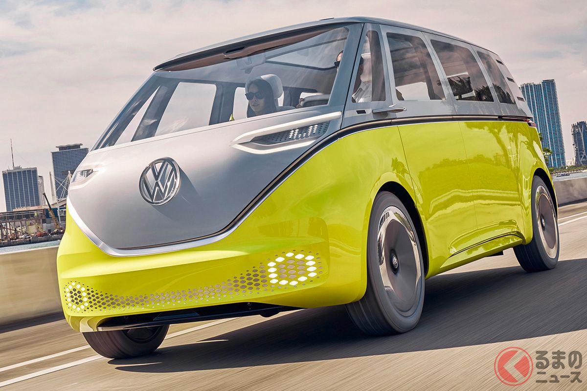 2022年に登場予定のEVワーゲンバス VW「ID.BUZZ」 レベル4の自動運転開発開始