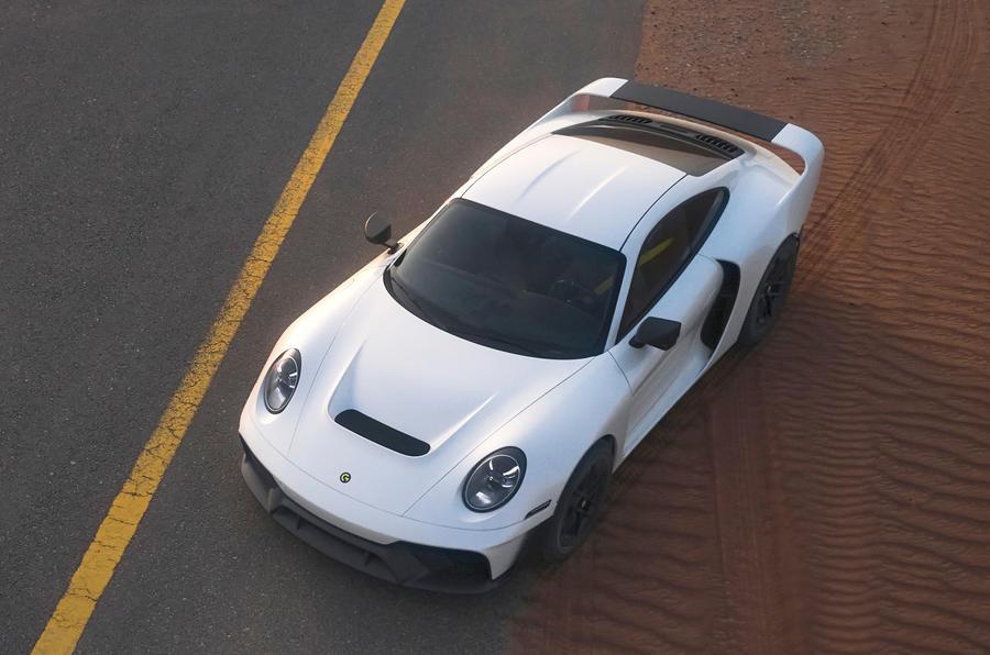 【砂丘を走るスポーツカー】新型ゲンバラ・マーシャン ポルシェベースのオフロード車 40台限定