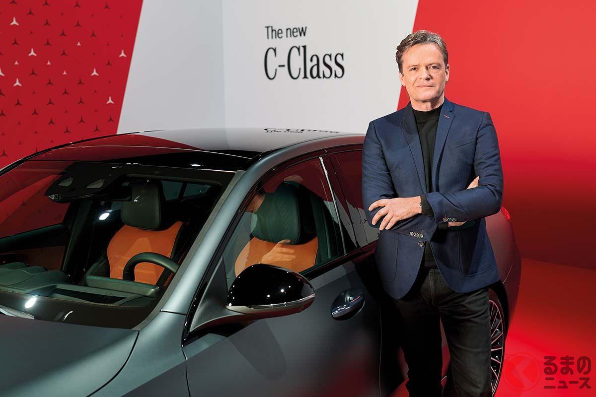 激進化! メルセデス・ベンツ新型「Cクラス」世界初公開  5代目は全モデル電動化