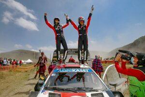 トヨタのオジエが今季4勝目。勝田貴元は2位で自身初の表彰台獲得/WRC第6戦ケニア