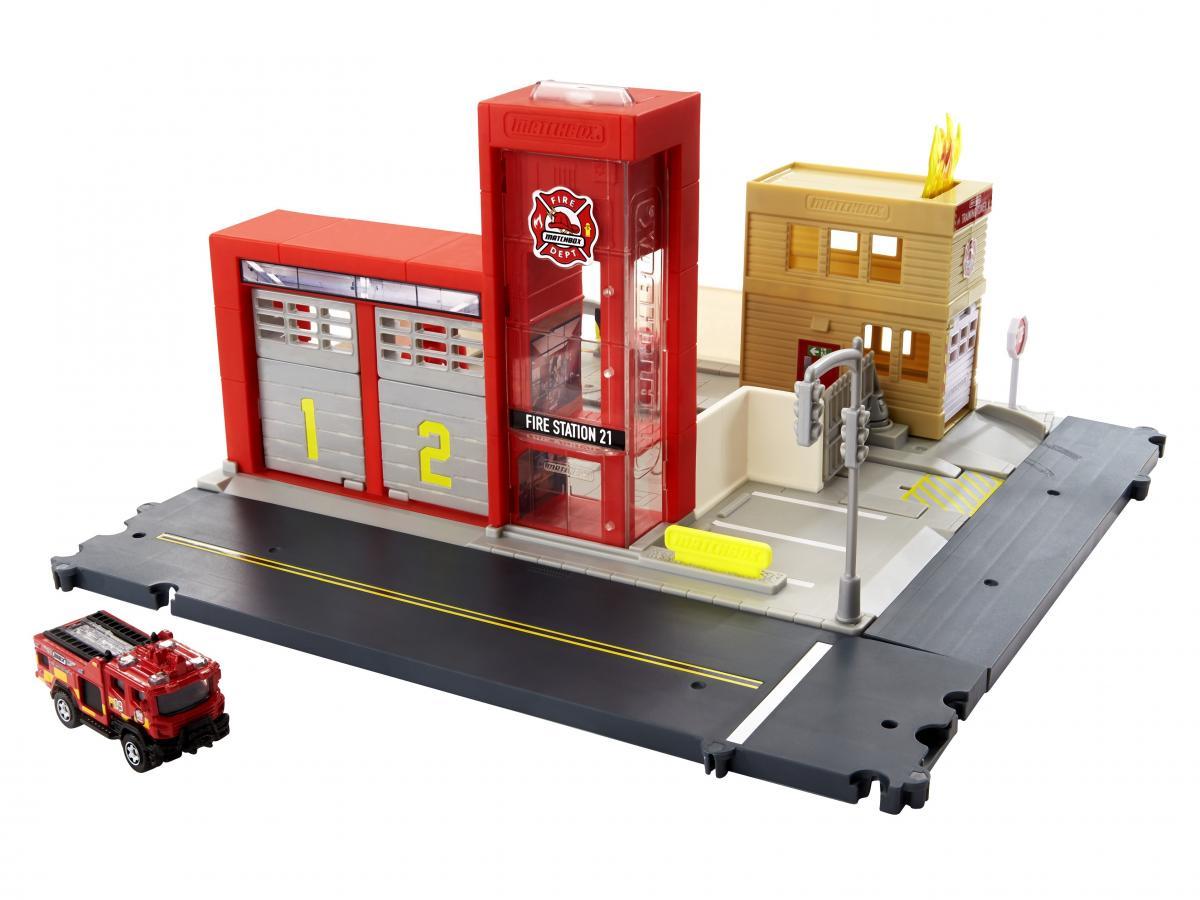 マッチボックスシリーズ最新作「出動!消防署 プレイセット」が4月下旬に発売