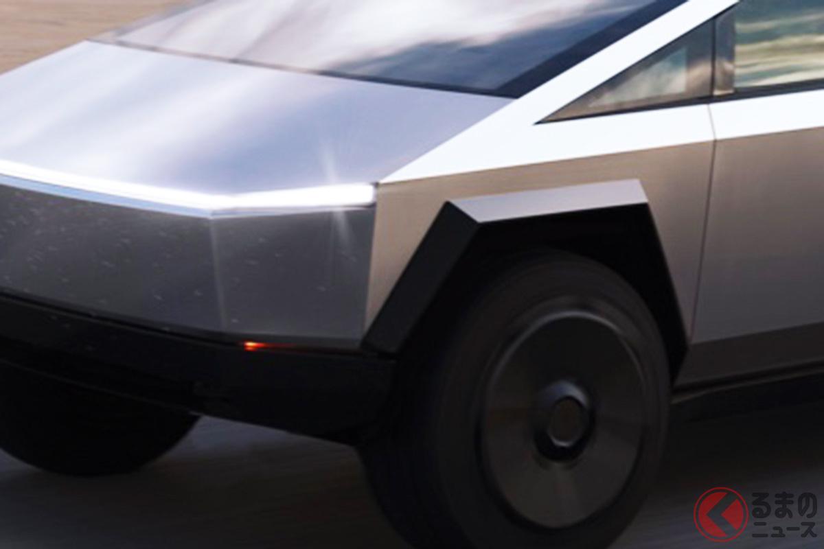 奇抜すぎ!? テスラ「サイバートラック」最終デザインが決定! ハプニング乗り越え見た目も「いい感じ」