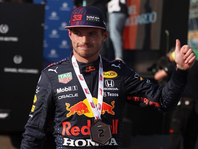 フェルスタッペン、2点獲得&先頭グリッド確保「決勝でメルセデスから逃げ切るためには序盤が重要に」/F1第14戦土曜