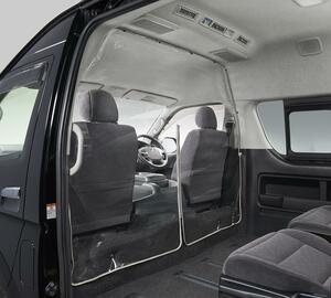 トヨタ・ハイエース専用! 現場の声を反映した飛沫感染対策セパレータを発売