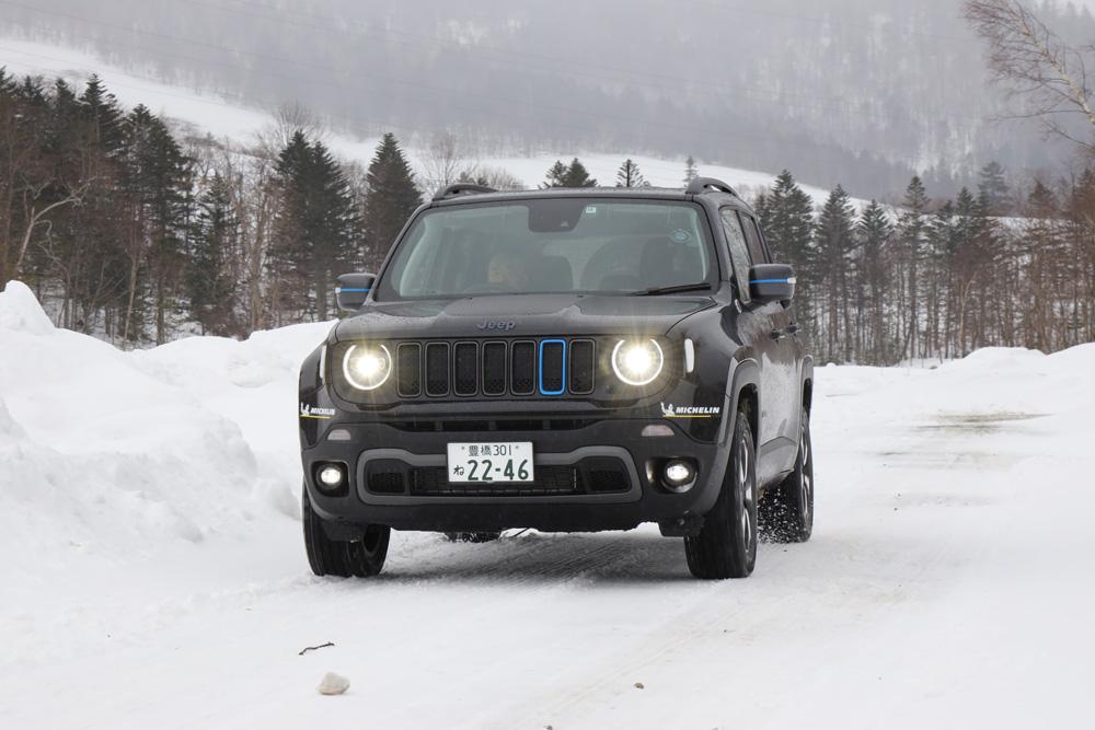 【動画付き】ジープ「レネゲード 4Xe」の動力性能を雪上でガチ検証!