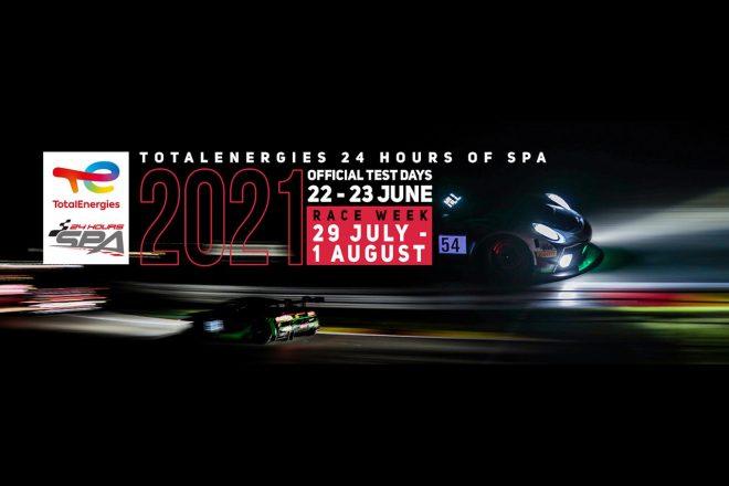 社名変更にともないスパ24時間の大会名称が『トタルエナジーズ・スパ24時間』に変更