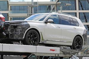 【フロントフェイス刷新?】BMW X7改良新型、テスト車両を目撃 大型グリルは維持 電動化の可能性は
