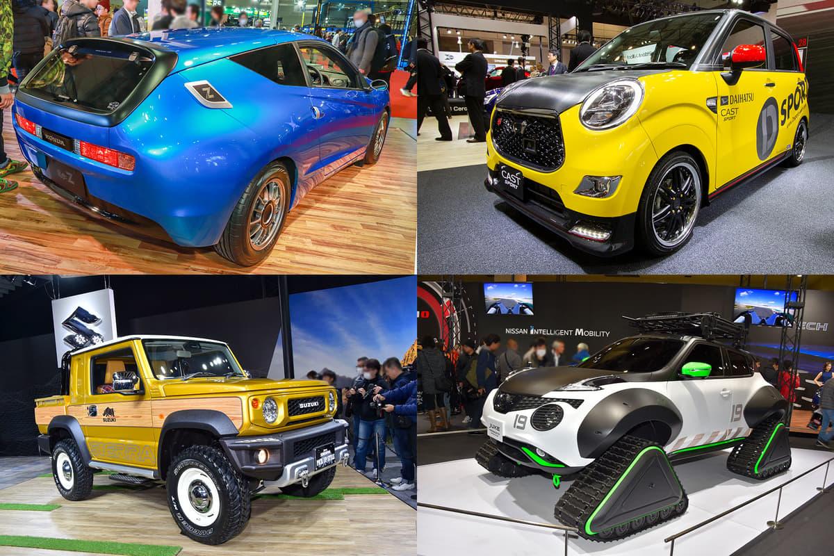 「ジムニートラック」に「ジュークのスノーモビル」! 売ればバカ売れ確実の市販車カスタム「コンセプトカー」4選