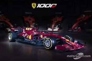 F1参戦1000レース目迎えるフェラーリ、ムジェロを駆ける特別カラーリングを発表。参戦初年度のマシンをオマージュしたワインレッドに