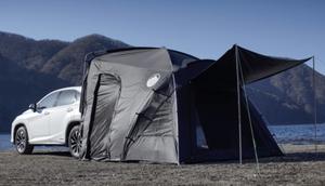 キャンピングカーがなくてもこれで十分!クルマと連結できる快適なテント「CAREX」